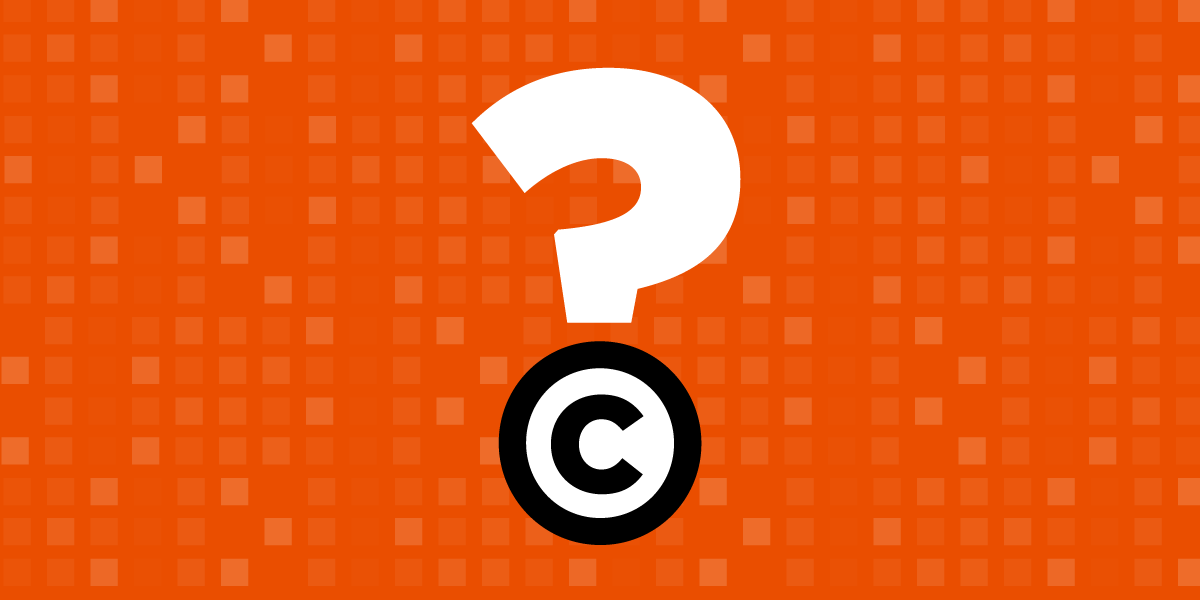 Copyright Question Mark