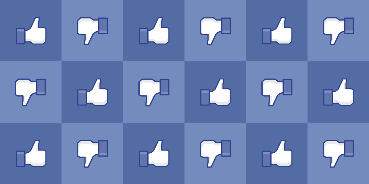 Facebooks thumbs up thumbs down