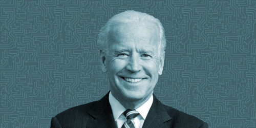 Joe Biden photo w circuit background