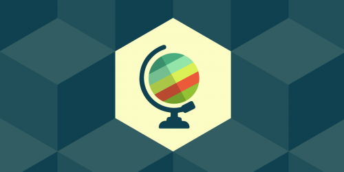 International issues banner, a colorful graphic of a globe